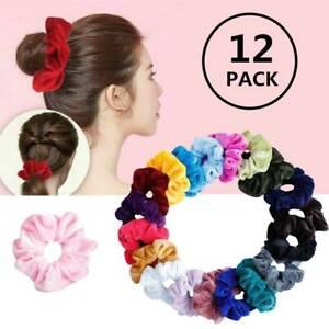 Premium-Velvet-Hair-Scrunchies-Hair-Bands-Scrunchy-Hair-Ties-Girls-12-Packs