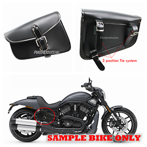 2X-Black-Motorcycle-PU-Leather-Side-Saddle-Bag-for-Harley-Sportster-XL-883-1200