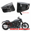 2X-Black-Motorcycle-PU-Leather-Side-Saddle-Bag-for-Harley-Sportster-XL-883-1200 thumbnail 1