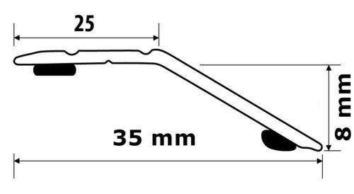 Übergangsprofil Teppichschiene Abschlussprofil Alu eloxiert Gold B35 mm L900mm