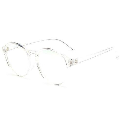 GRANDE Ovale Rotondo Lente Trasparente Qualità Di Moda Geek Occhiali in stile retrò