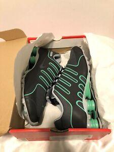 Nike-Shox-10-5-BLK-ANTHRACITE-SLIVER-GRN-NOIR-VERY-RARE