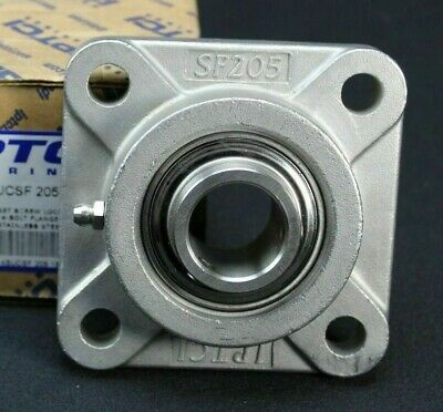 "High Quality SUCSF206-19  1-3//16/"" Stainless Steel 4-Bolt Flange Bearing"
