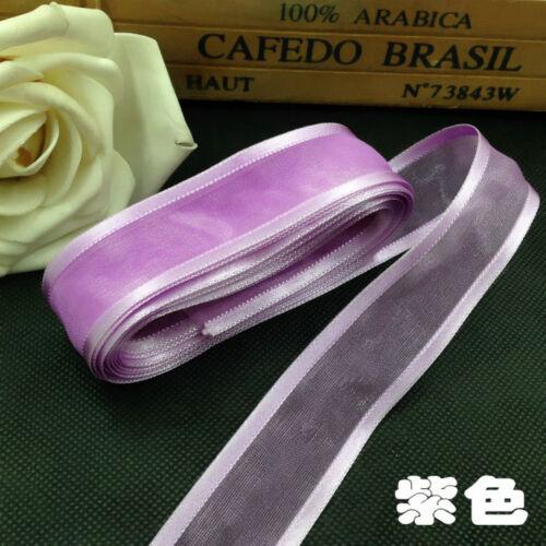 "5yds 1/"" Satin Edge Organza Ribbon Bow Wedding Decoration Lace Crafts DECOR"