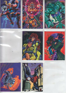 Marvel-Universe-94-Flair-1994-Lot-32-7-Cards