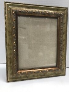 Victorian-Wood-Picture-Frame-Gilded-Faux-Burl-Ornate-Beaded-Holds-8-x10-Photo
