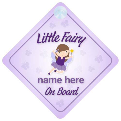Fairy On Board Personalised Baby Girl Car Sign