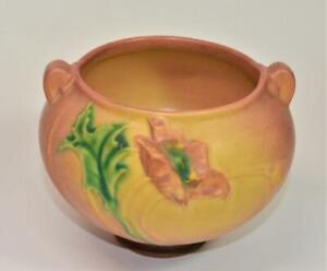 Vintage-c1940s-Original-ROSEVILLE-Art-Pottery-POPPY-SEED-FLOWER-652-3-4-034-h-Vase