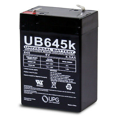 UPG UB645 6V 4.5Ah Battery with 6V//12V Battery Charger Combo