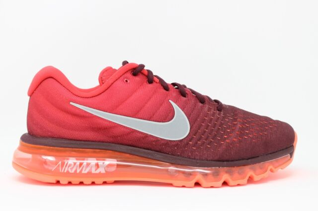 577bf461009c Men s Nike Air Max 2017 849559 601 Night Maroon White Gym Red Brand New In  Box