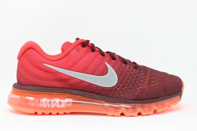 promo code 29ae6 60187 Men s Nike Air Max 2017 849559 601 Night Maroon White Gym Red Brand New In  Box