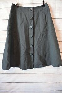 BANANA-REPUBLIC-A-line-skirt-sz-4-medium-10-12-grey-cotton