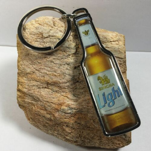 Singha Thailand Beer Metal Keychain Bottle Opener Limited Collectible