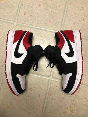 Used Jordan 1 Low Black Toe Size 9