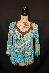 Alberto Makali Medium Blue/Green Crinkle 100% Polyester $23.00