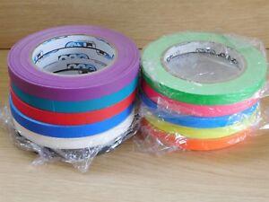Hoop-Tape-UV-Neon-and-Matt-Pro-Gaff-Gaffer-Tape-12mm-x-25m-Permacel