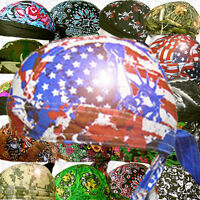 Do Wrap Du Skull Biker Cap Doo Rag Hat Paisley Web Sweat Bandana Motorcycle Lot