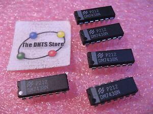 DM7438N-National-Semiconductor-TTL-IC-Quad-2-Input-NAND-Plastic-7438-NOS-Qty-5