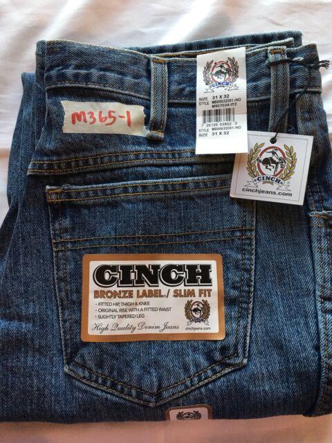 148afea14d0 Mens New Cinch 31X32 Bronze Label Classic Rise Slim Fit Jeans MB90532001