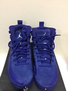 "competitive price 33423 8daf3 Details about Air Jordan retro 12 xii ""Deep Royal"" blue suede...SIZE 4Y...  153265-400"