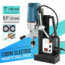 Multifunctional 1200w 09 Inch Magnetic Drill Press 2900lb Magnetic Force