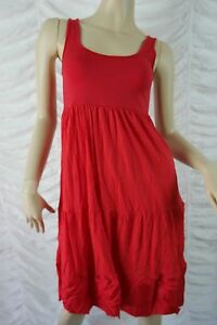 BROWN-SUGAR-red-tiered-singlet-midi-dress-size-10-BNWT