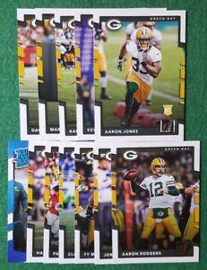 2017-Donruss-Green-Bay-Packers-team-set-Aaron-Jones-RC-13-cards-4-RC