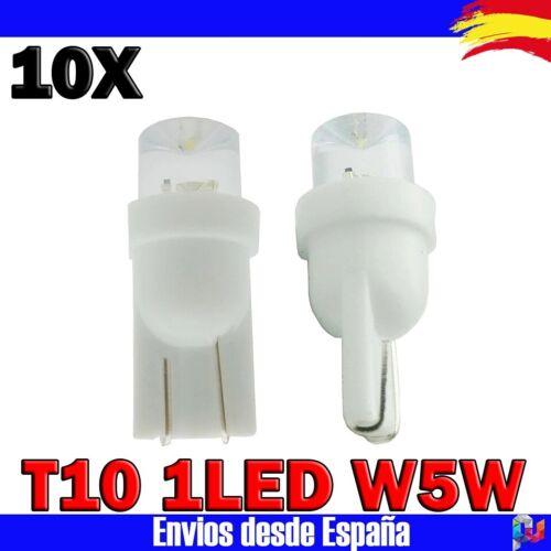 Bombillas LED T10 1LED W5W DC12V 50000h Blanco Frio posicion matricula interior