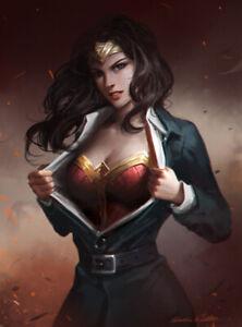 WONDER-WOMAN-comic-book-lot-of-9-different-surprise-vintage-DC-superhero-comics