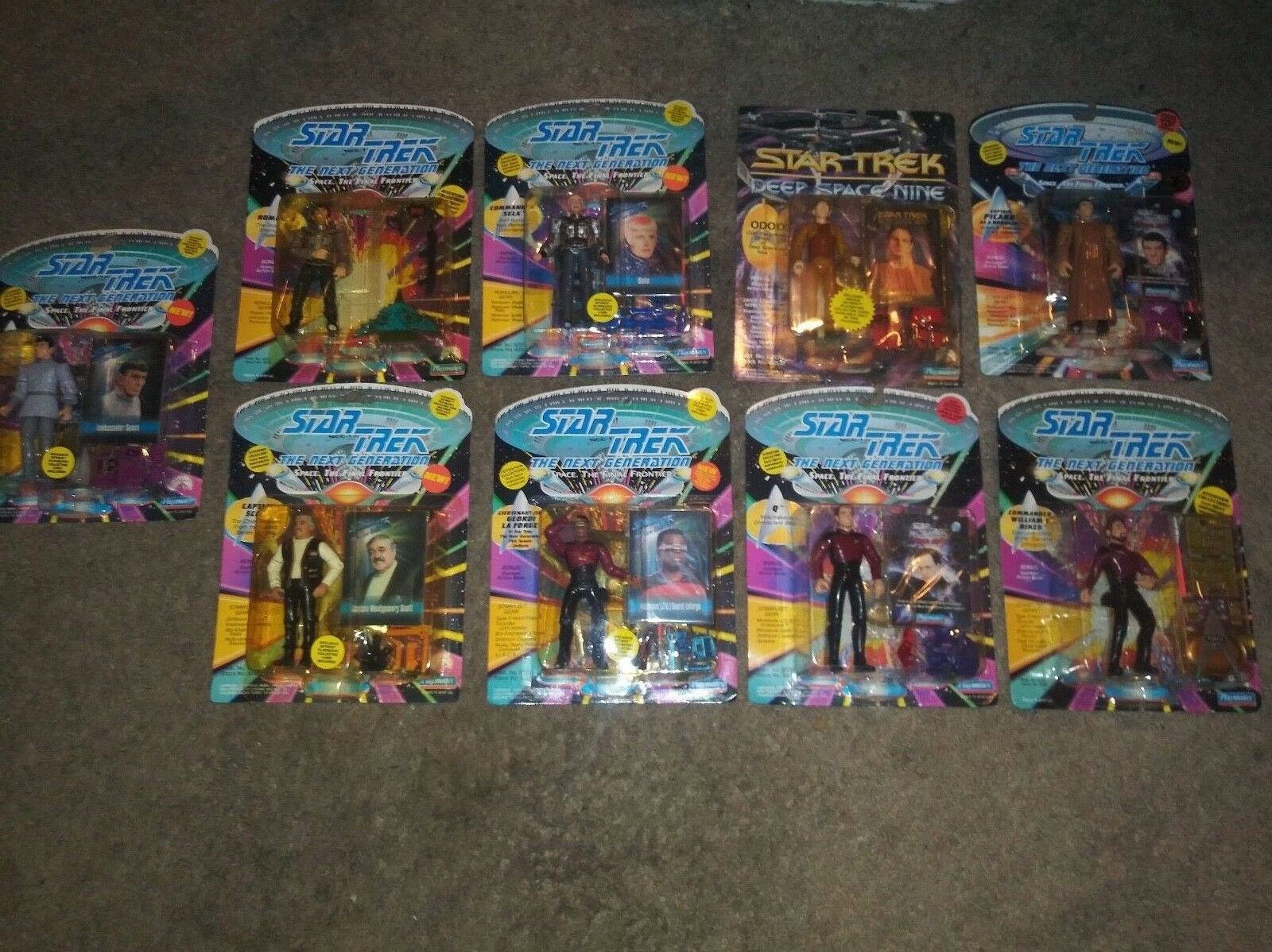 LOT OF 49 STAR TREK ACTION FIGURES, 1990'S PLAYMATES, NEW NEW NEW ec7873