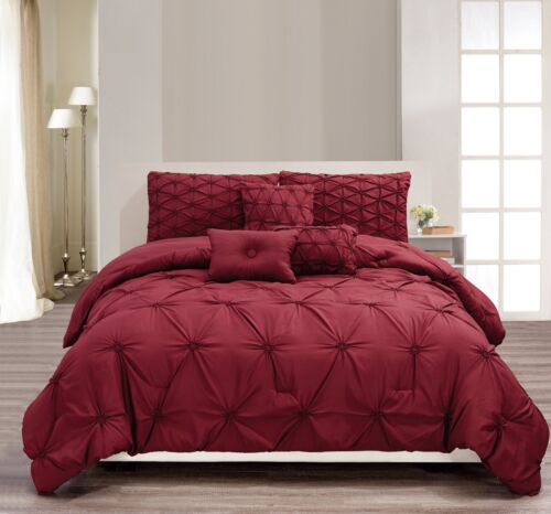 Burgundy ALL SIZES Empire Home Davina 6-piece Comforter Set New Arrival Sale