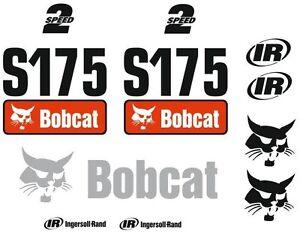 Details about (ORIGINAL LOOK) BOBCAT S175 FULL DECAL STICKER SET KIT SKID  STEER