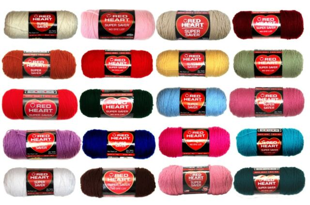Red Heart Super Saver CHERRY RED 7 oz 100/% Acrylic Worst Wt #4.No Dye Lot