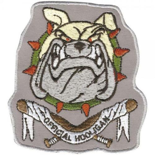 Aufnäher Patches Hundekopf Official Hooligan 04405 8,5 x 8 cm ca Gr