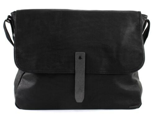 Esprit Parsons Messenger Bag Borsa Tracolla Valigetta Borsa BLACK NERO NUOVO