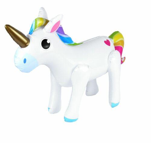 53 cm LARGE INFLATABLE RAINBOW UNICORN Birthday Party Decoration Blow Up Toy UK