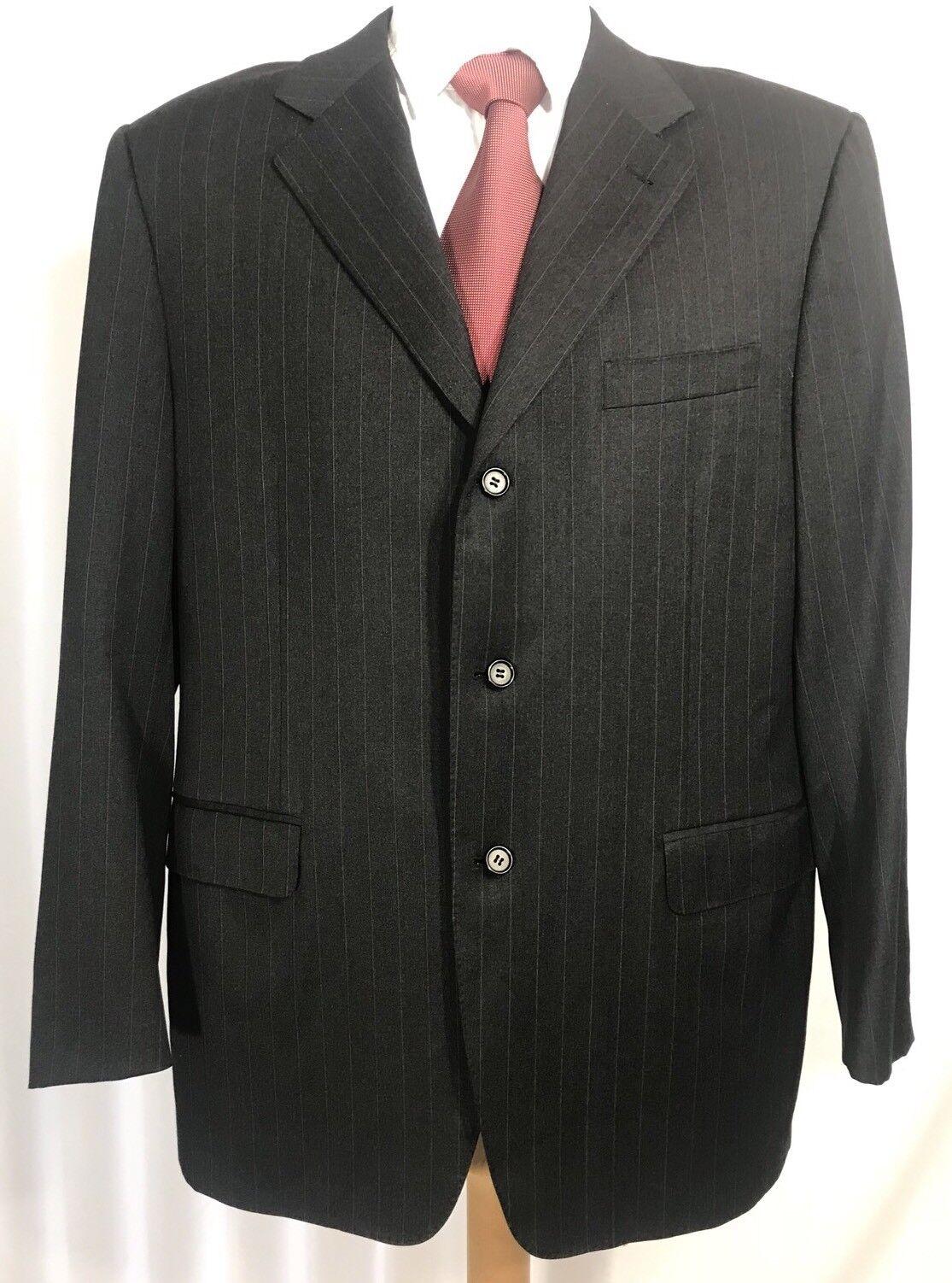 Canali Proposta Men Three Button 100% Wool Blazer Coat Größe 42 R Made In