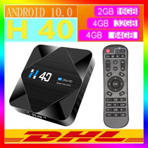 H40 Android 10.0 TV Box H616 Quad-core 6K BT4.1 2.4G 5G WiFi 16GB/32GB/64GB F4G5