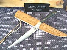 Küchenmesser Tomatenmesser Stahl 440 C Steakmesser 23,5 cm Büffelhorn Griff Neu