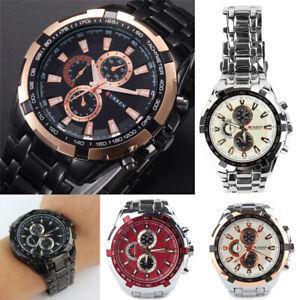 CURREN-Men-039-s-Luxury-Stainless-Steel-Band-Sport-Analog-Quartz-Wrist-Watch-Gift