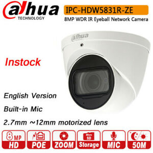 Details about Dahua IPC-HDW5831R-ZE 4K 8MP WDR IR Eyeball Network Camera  POE 2 7 ~12mm Lens