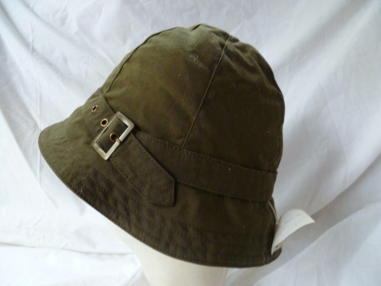 'Failsworth' Showerproof Khaki Green Cotton Rain Hat Belt Buckle Band 58cms NEW