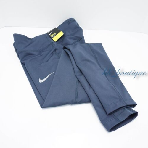 NWT Nike 938664-471 Women's Epic Run Tight Training Running Thunder Blue Size XS