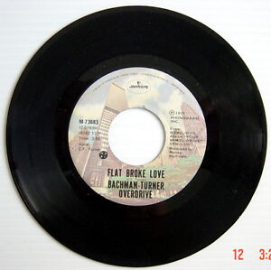 ONE-1975-039-S-45-R-P-M-RECORD-BACHMAN-TURNER-OVERDRIVE-HEY-YOU-FLAT-BROKE-LOVE