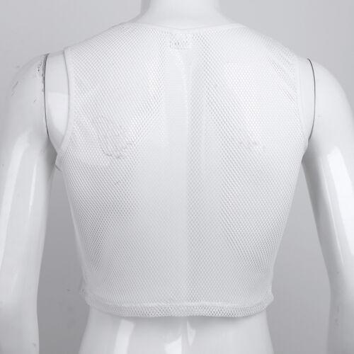 Herren Mesh Fishnet Unterhemd Achselhemden TankTop Shirt Muskelshirt Achselshirt