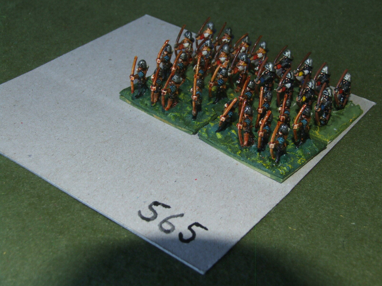 15mm medieval   generic - Longbow Double Based 32 Infantry - inf (A565)