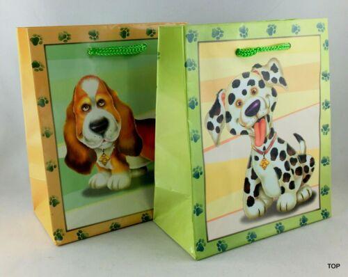 Geschenktüte 51502 Hunde Papiertüte Geschenktasche Geburtstag 11 x 13,5 x 6 cm