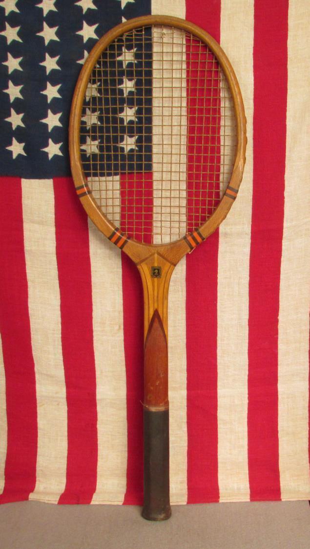 Vintage 1930s Narragansett Estándar de Madera De Tenis Raqueta controlador Antiguo  Hermoso