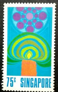 Singapore-1972-Festivals-50c-Deepavali-Incense-amp-Teapot-1v-MNH