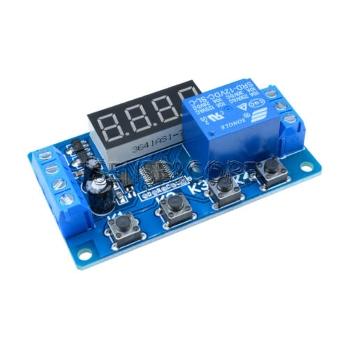 DC12V Automation Trigger Cycle Delay Timer Control Relay Switch Module